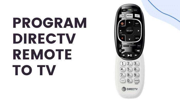 how to program directv remote to tv