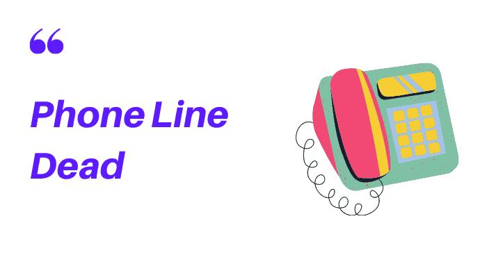 phone line dead but broadband working