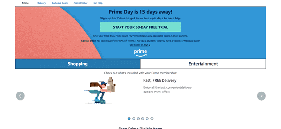 amazon prime website