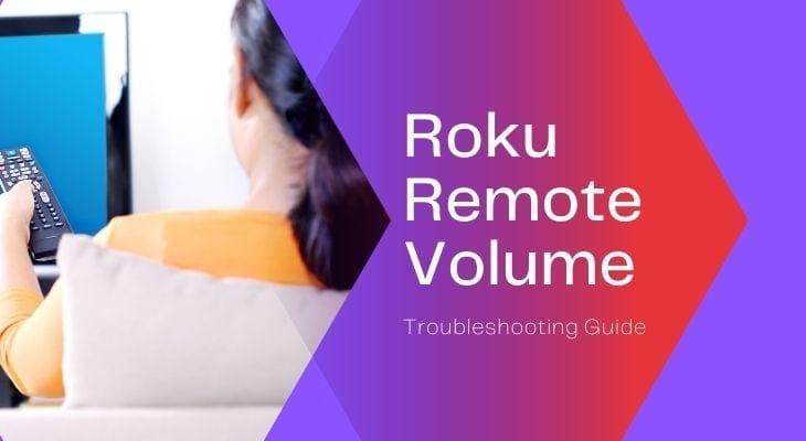 roku remote volume not working