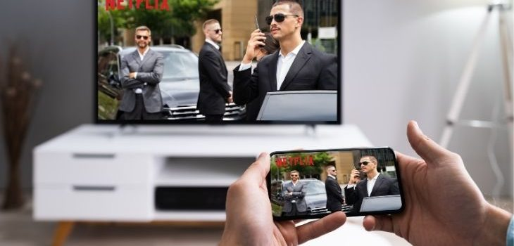 how to cast netflix from phone to tv without wifi